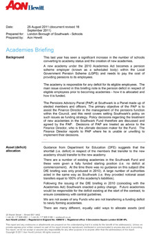 Icon for Academies briefing note