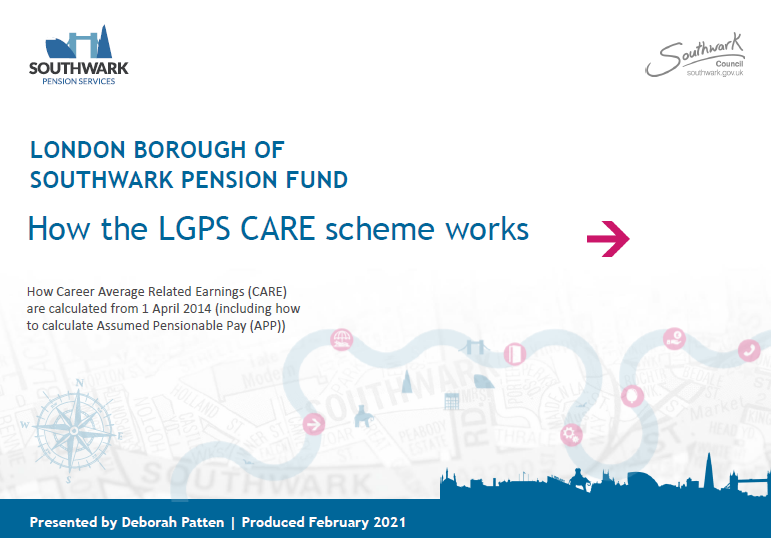 Icon for How the LGPS CARE scheme works presentation