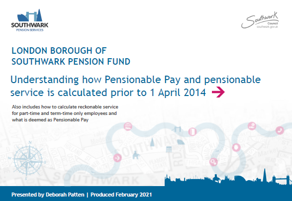 Icon for Understanding how Pensionable Pay and pensionable service is calculated prior to 1 April 2014 presentation